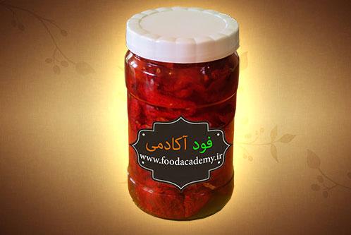 گوجه فرنگی خشک شده در آفتاب با روغن زیتون / چطوری گوجه فرنگی خشک کنم