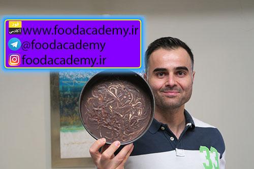 کیک شکلاتی با کره بادام زمینی